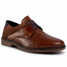 Rieker Shoe two tone Lace up Brown