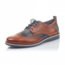 Rieker Amaretto/Ocean Lace up Shoe