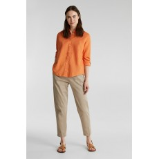 Esprit Linen Cotton Blouse Rust Orange