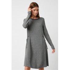 Great Plains Clara Ottoman Crew Neck Dress Grey Multi
