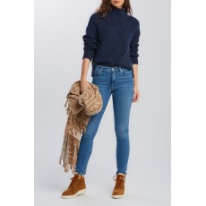 Gant Neps Cable Evening Blue Turtleneck