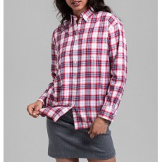 Gant Flannel Check Relaxed Red Shirt