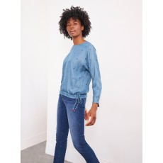 White Stuff Willa Denim Long Sleeve Top