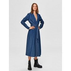 Selected Femme Miranda LS Denim Dress
