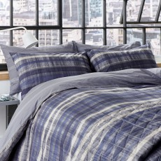DKNY Ombre Stripe Bedding Navy