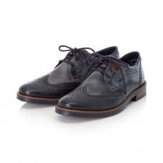 Rieker Navy and Mahogany Brogue