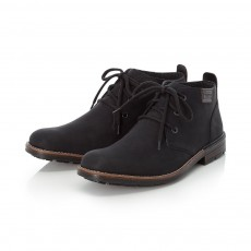 Rieker Black and Chestnut Ankle Boot