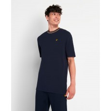 Lyle & Scott  Striped Ringer Dark Navy T-Shirt