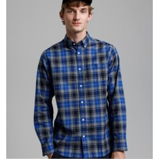 Gant Melange Herringbon Blue Check Regular Shirt