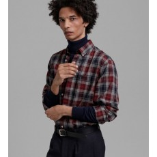 Gant Melange Herringbon Red Check Regular Shirt