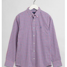 Gant Gingham Regular Purple Shirt