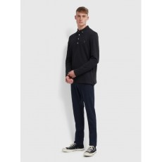 Farah Ricky Long Sleeve Deep Black Polo