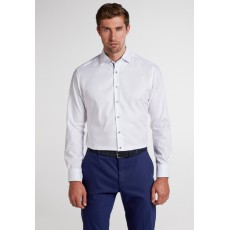 Eterna Print Trim Shirt White