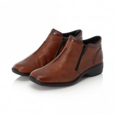 Rieker Mahogany Brown Small Heeled Ankle Boot