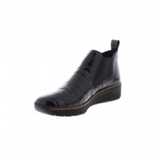 Rieker Black Horse Riding Style Slip On Boot