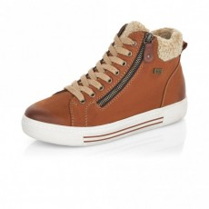 Remonte Wool Lined Brown Trainer