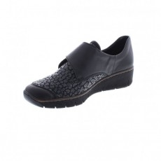 Rieker Black Slip On Thick Soled Shoe