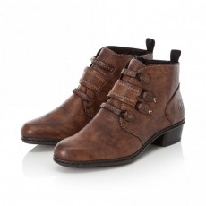 Rieker Brown Riding Style Small Heeled Ankle Boot