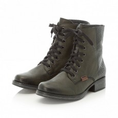 Rieker Green and Mahogany Brown Lace Up Boot