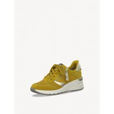 Tamaris Mustard and Silver Combination Trainer