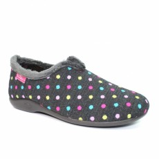 Lunar Lava Black Spotty Slipper