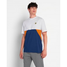 Lyle & Scott  Trio Geo White and Indigo T-Shirt