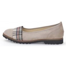 Gabor Pebble and Tartan Slip on Shoe
