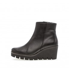 Gabor Chunky Wedged Black Heeled Boot