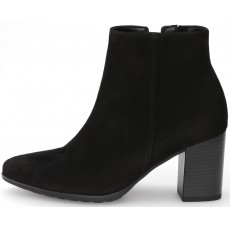 Gabor Black Suede High Heeled Boot