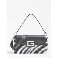 Guess Brightside Shoulder Zebra Print Bag