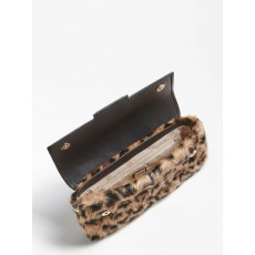 Guess Brightside Shoulder Leopard Print Bag