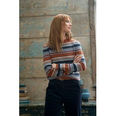 Seasalt Art Deco Striped Jumper Ladock Sailor Mix