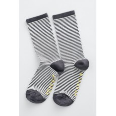 Seasalt Sailor Mini Stripe Coal Sock