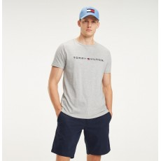 Tommy Hilfiger Core Tommy Logo Tee Cloud Heather