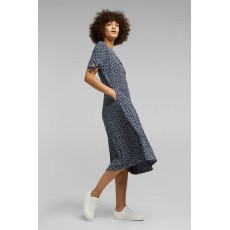 Esprit Core Crepe Dress Navy