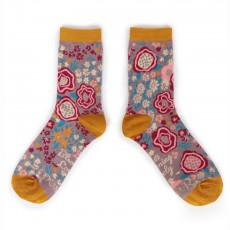 Powder Ankle Sock Floral Lilac