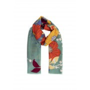 Powder Autumn Floral Scarf Moss