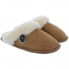 Bedroom Athletics Molly Double Faced Sheepskin Mule Chestnut