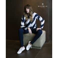Marble Sweater Navy