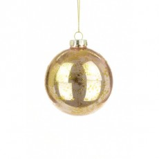 Glass Demi Bauble 8cm Rose Gold