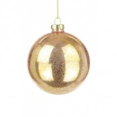 Glass Demi Bauble 10cm Rose Gold