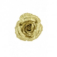 Rose With Clip Gold