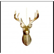 Antique Gold Stag Head Decoration