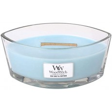 Woodwick Seasalt & Cotton Ellipse Candle