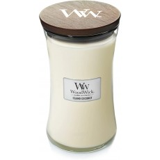 Woodwick Island Coconut Large Hourglass Candle