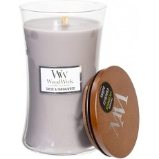 Woodwick Suede Sandalwood Large Hourglass Candle