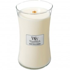 Woodwick White Tea & Jasmine Large Hourglass Candle