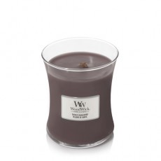 Woodwick Suede Sandalwood Medium Hourglass Candle
