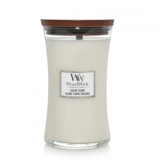 Woodwick Large Hourglass Candle With Pluswick Solar Ylang
