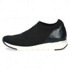 Caprice Black Knit Wedged Sole Trainer
